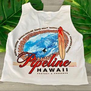 Hawaii Pipeline Cropped Tank